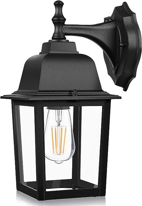 Dusk To Dawn Sensor Outdoor Wall Lanterns Exterior Wall Lights Fixture With E26 Base Led Bulb