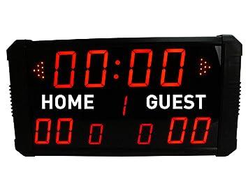 Marcador electrónico, LED y digital para baloncesto, béisbol, multideporte, de GANXIN: Amazon.es: Deportes y aire libre