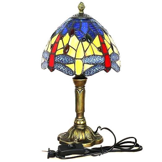 Lámpara de mesa de vidrio de color Tiffany, luz de noche de ...