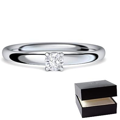Verlobungsring Diamant Weissgold Ring 585 0 08 Carat Tw Vs