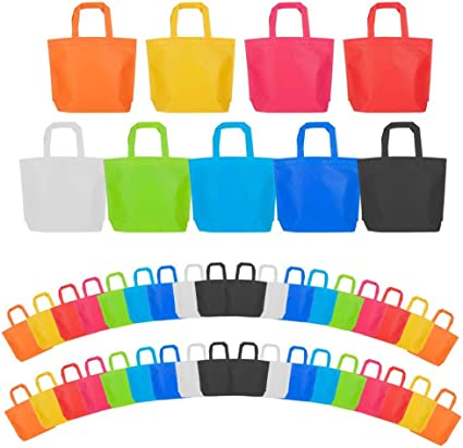 Aneco 30 Pack Party Bags Non-Woven Gift Bag Tote Bags with Handles Party