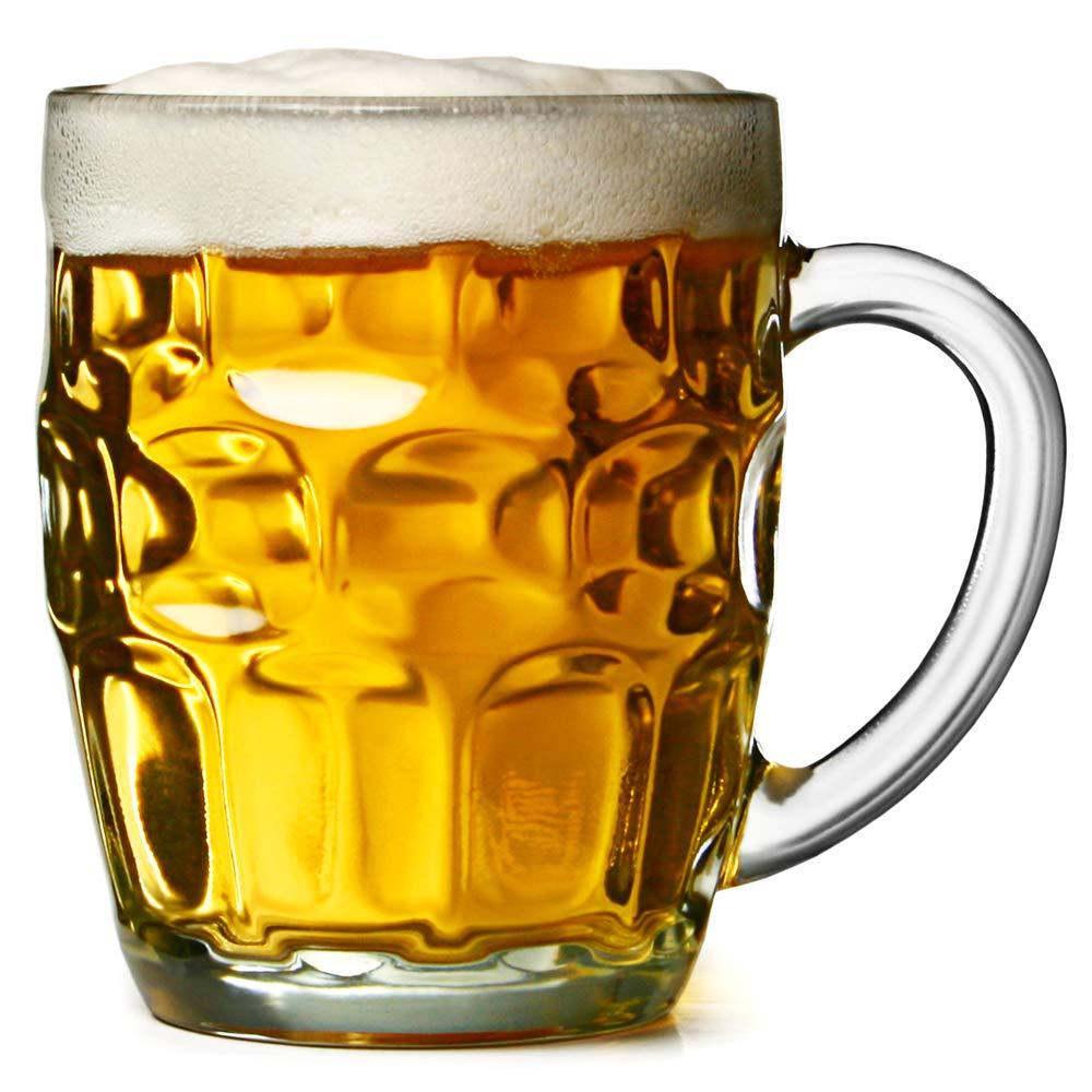 Jarra de cerveza con hoyuelos