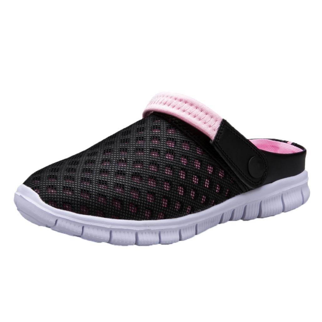 Unisex Couple Mesh Net Flat Heel Outdoor Summer Beach Slipper Shoes Indexp Men Women Hollow Out Padded Clogs