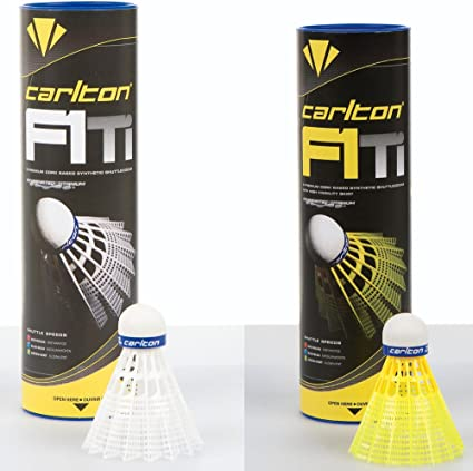 Carlton F2 Badminton Shuttlecocks Pack of 6