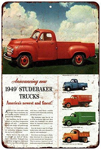 1949 Studebaker Trucks Vintage Look Reproduction Metal Si...
