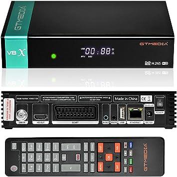 GT MEDIA V8 X Decodificador Satelite DVB-S2X Full HD 1080p con WiFi / Ethernet / SCART / Tarjeta
