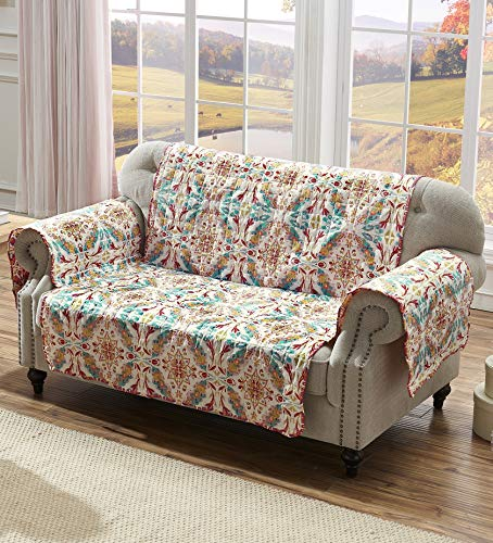 Greenland Home Joanna's Garden Slipcover, Loveseat, White from Greenland Home