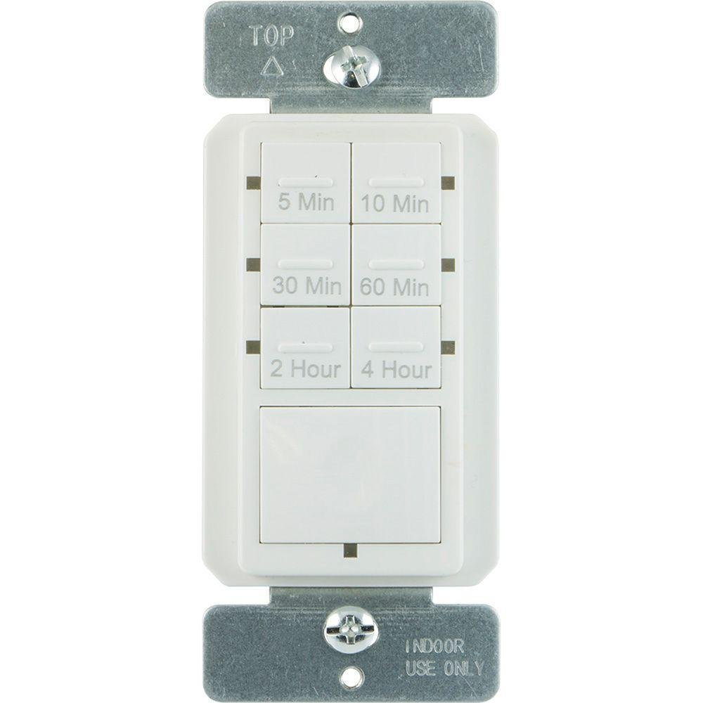 Amazon.com: Defiant 6.4-Amp 4-Hour In-Wall Countdown Timer with No Neutral  Wire (CFL and LED): Kitchen & Dining