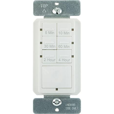amazon com defiant 6 4 amp 4 hour in wall countdown timer with no rh amazon com  defiant daylight adjusting digital timer wiring diagram