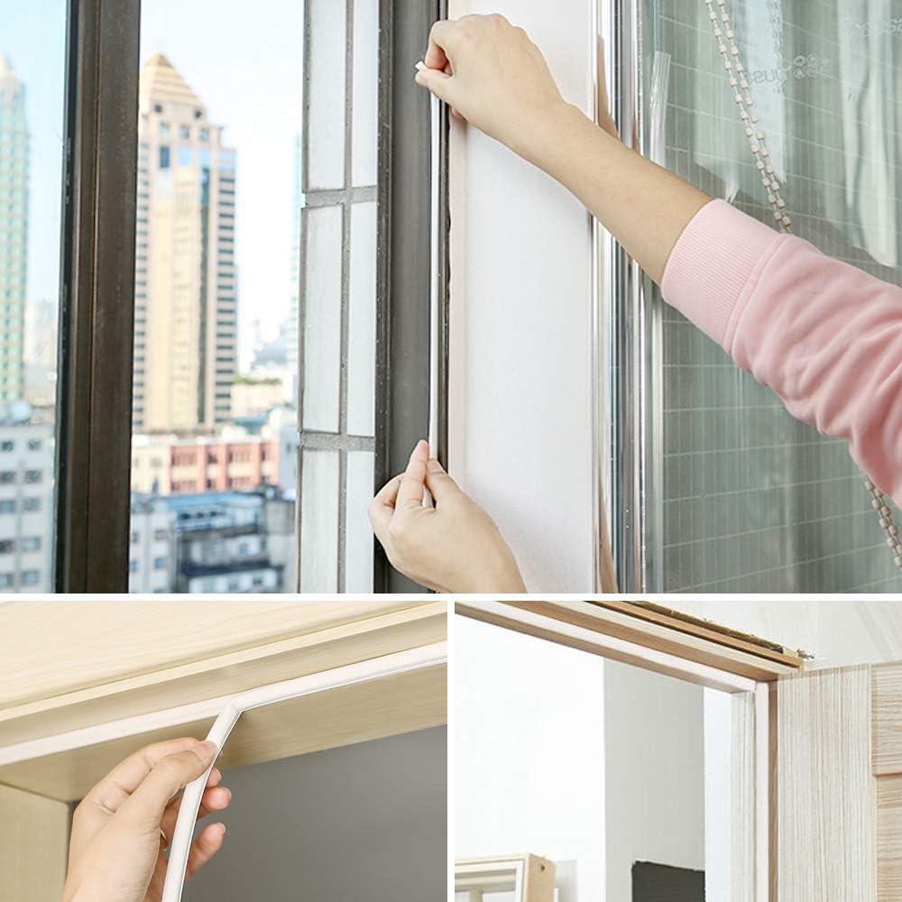 TRIXES 5 Meter wei/ßes selbstklebendes Fensterdichtungsband Zugluftstopper Dichtstreifen D-Profil