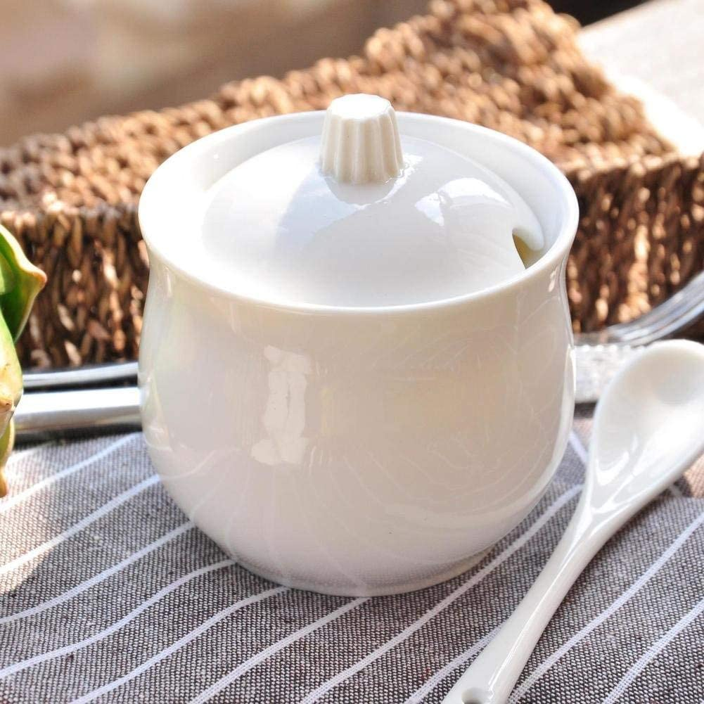 MUMUMI Small Spice Jars,Porcelain Condiment Jar Ceramic Spice Jars with Lid and Spoon Storage Containers Spice Storage Containers