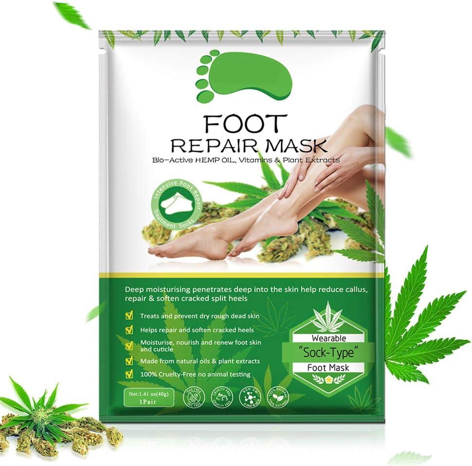 Yissma Foot Mask Removedor de Callos Calcetines, Eliminación de córnea Máscara Exfoliante de pies Exfoliante Máscara de pie Máscara Calcetines corneales Cuidado de pies