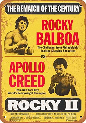 (Wall-Color 7 x 10 Metal Sign - 1979 Rocky Balboa vs. Apollo Creed - Vintage)