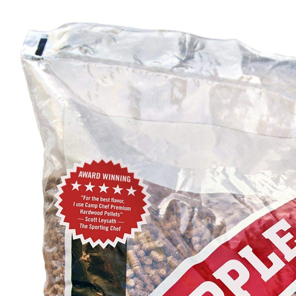 MRT SUPPLY Smoker Grill Premium Orchard Apple Hardwood Pellets, 20 lbs (6 Pack) with Ebook