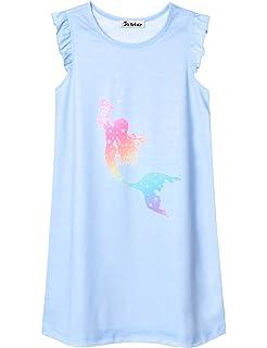 Jxstar Girls Unicorn/Mermaid/Flamingo Pajamas Cotton Print 3-13Years
