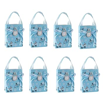 Bolsas De Regalo Para Bautizo.Toyvian Mini Baby Shower Paper Favors Bag 12pcs Tote Candy