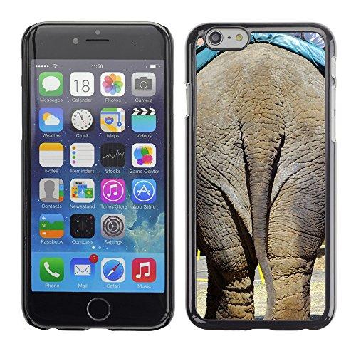 """Bild Hart Handy Schwarz Schutz Case Cover Schale Etui // M00134771 Elephant Esels Hintern Working // Apple iPhone 6 PLUS 5.5"""""""