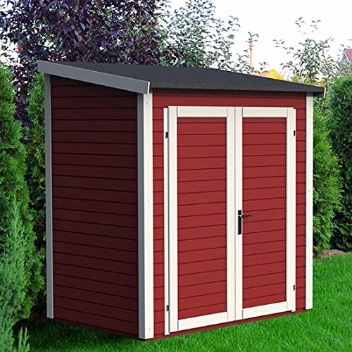 Caseta de jardín madera, diseño de chalet, 2 m, color Gris: Amazon.es: Jardín