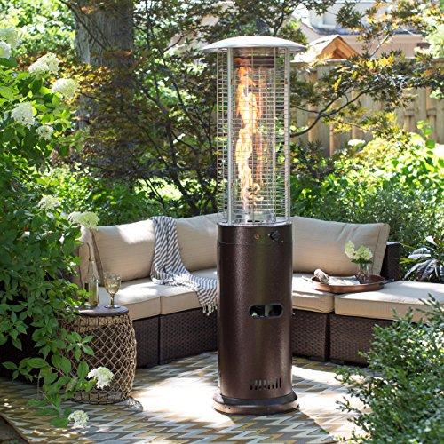 Bronze Deluxe Patio Heater (Red Ember Fuego Fire Sense Patio Heater - Hammeredtone Bronze)