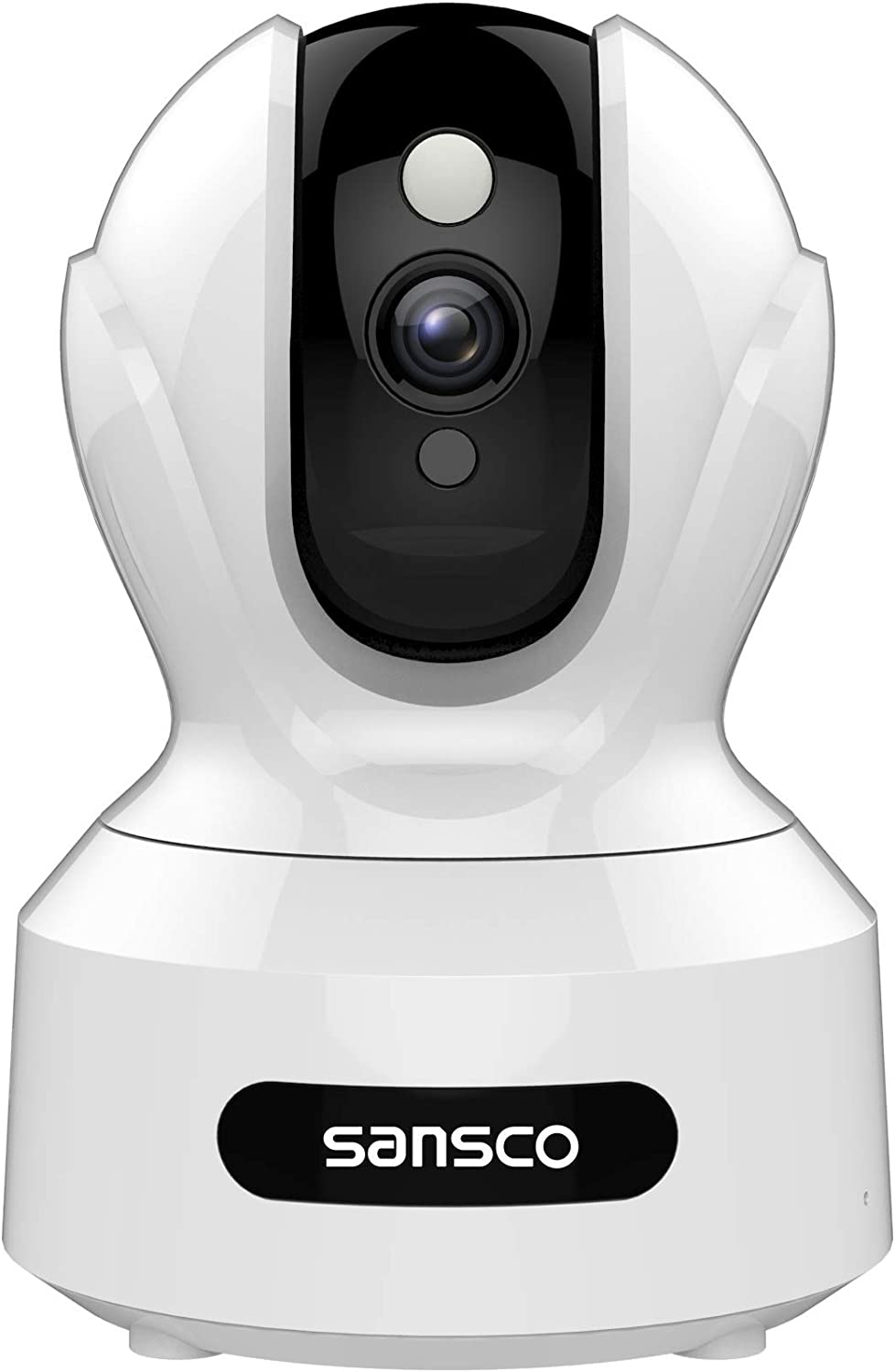SANSCO 2MP 1920x1080p Indoor Wireless Security Camera Home Monitor WiFi Camera for Pet Baby Surveillance IP Camera with IR Night Vision, Motion Detection Push Alerts and Two-Way Audio White