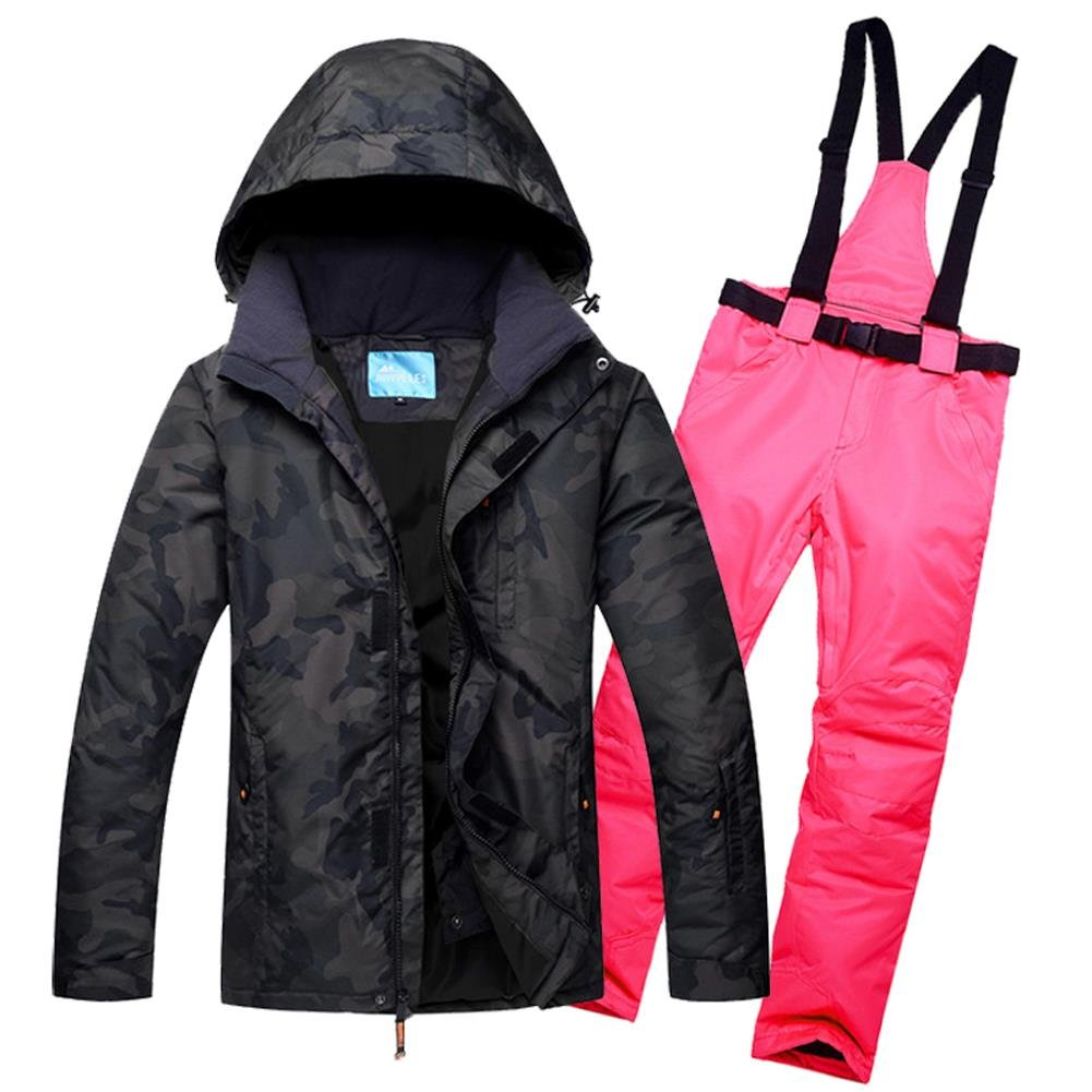 HOTIAN Men's Windproof Waterproof Bright Color Ski& Snowboarding Jacket Pants