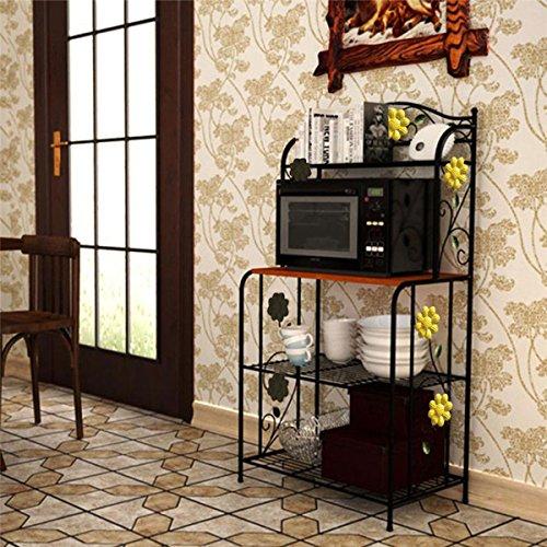 ZHU Practical Home Kitchen Baker's Rack Utility Microwave Stand Storage Cart Shelf