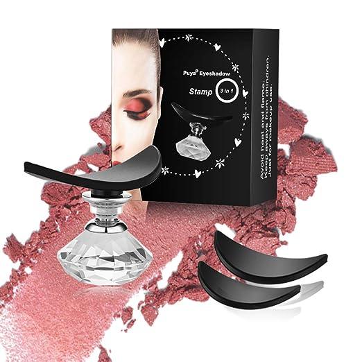 Puya Eyeshadow Stamp Crease,Eye Shadow Stamp Powder Applicator,Eyes Makeup Tool Draw Eyeshadow in Seconds (3 Pack) best eyeshadow stamps