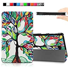 Infiland Samsung Galaxy Tab A 10.1 case - Ultra Slim Tri-Fold Smart Case Cover for Samsung Tab A 10.1-Inch (SM-T580 / SM-T585) 2016 Release Tablet (Lucky Tree)