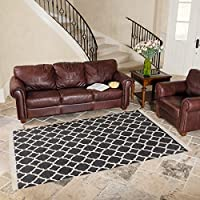 Harbormill 5 x 8 Ft. Charcoal Geometric Area Rug