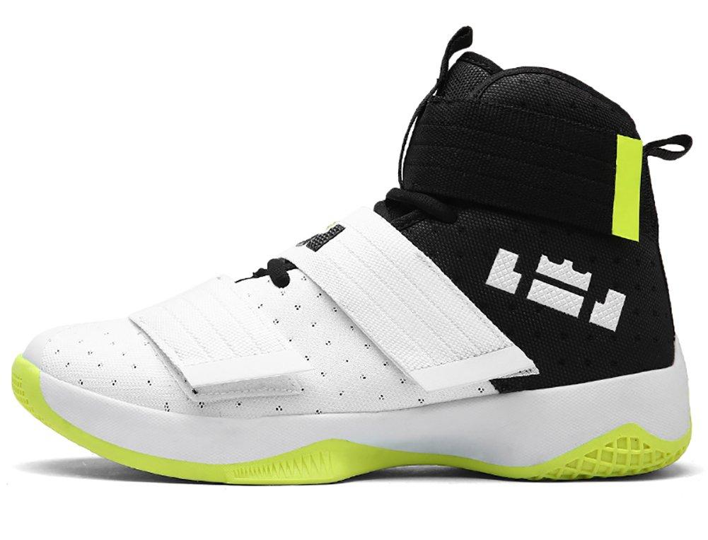 No.66 Town Couple Men's Women's High Top Running Shoes Fashion Sneaker,Basketball Shoes B077Y15Z1T (US)7(women's)|White