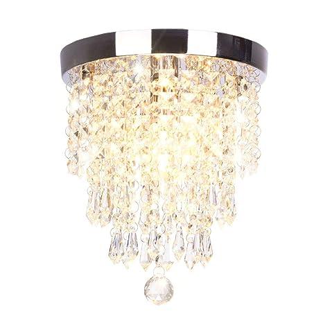 Dellemade Mini 1 Licht Kristall Kronleuchter Modern Deckenleuchte Für  Treppenhaus, Bar, Küche, Esszimmer, Kinderzimmer 22CM: Amazon.de:  Beleuchtung