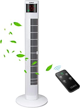 Stand Ventilator 60W FERNBEDIENUNG Touch Timer Raum Kühler Lüfter Oszilierend