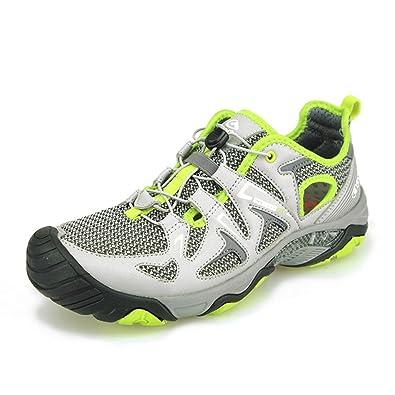 927696f0a974 Clorts Men s Water Shoe Athletic Lightweight Kayaking Hiking Walking Sneaker  Grey Green 3H027B US7.5