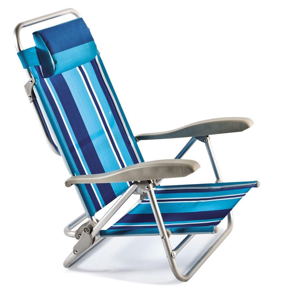 Liegestuhl aus Alu, 7 verschiedene Positionen, klappbar, 110 x 63 cm ...