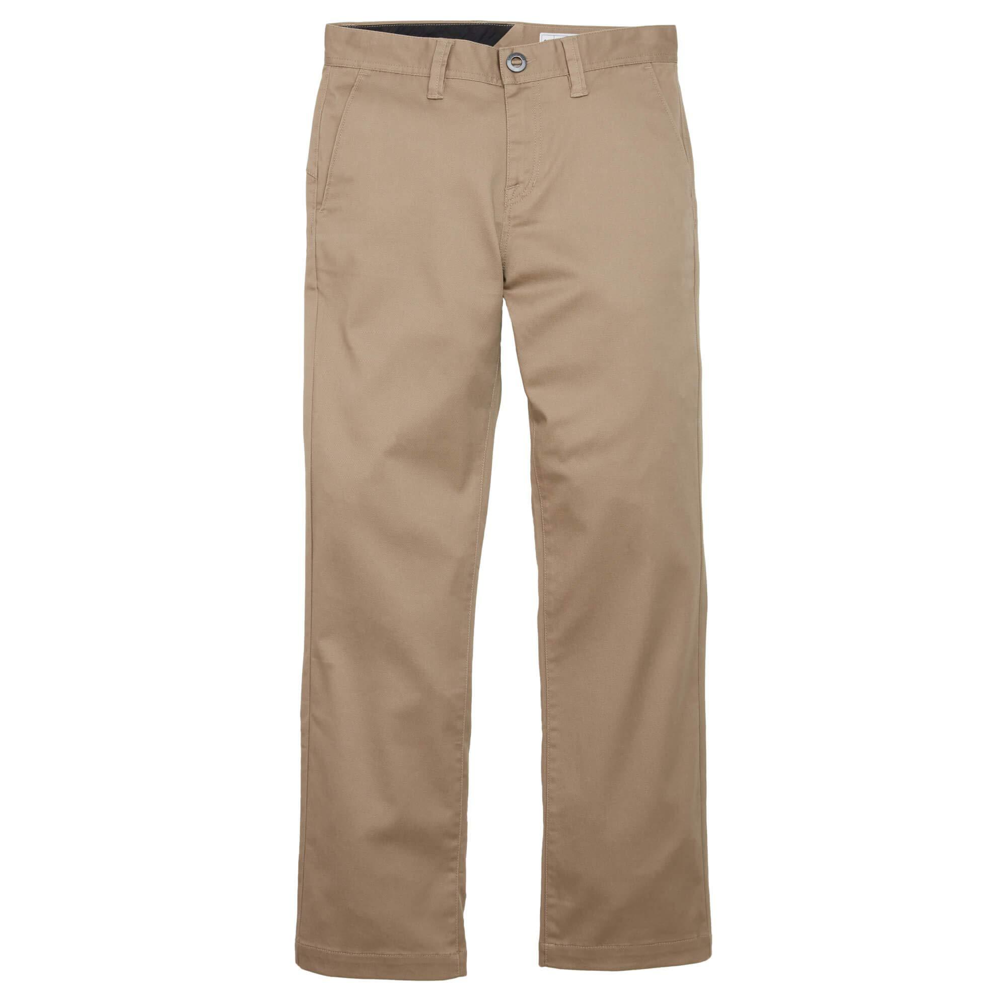 Volcom Big Boys Frickin Regular Fit 15'' Chino Pant, Khaki, 23 by Volcom (Image #1)