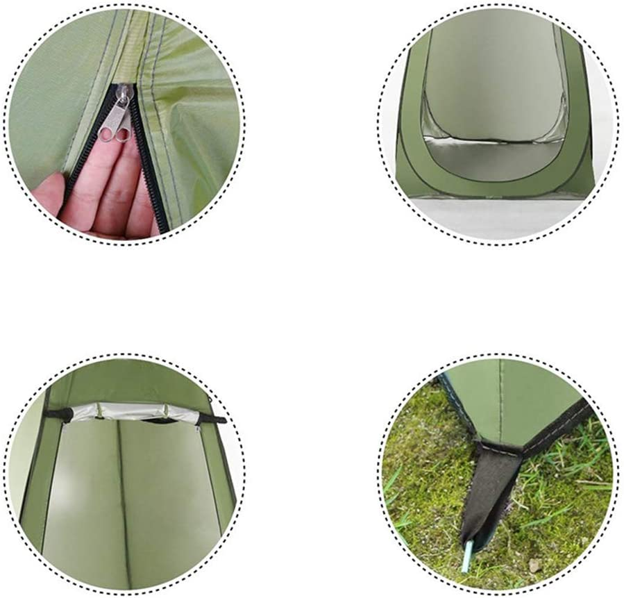 Pop Up WC Tent, Instant Portable Privacy Tent, Douche Privacy Space Kleedruimte Rain Shelte Opvouwbaar Voor Camping Beach Outdoor Lichtgewicht Stevige,Pink Green