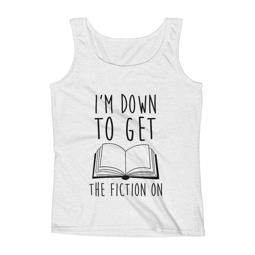 Mad Over Shirts ImM Down to Get The Fiction in Cool Magazine Books Unisex Premium Tank Top