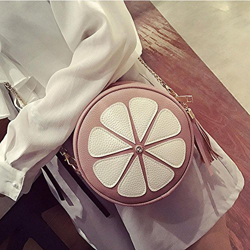 Fashion Handbag Round Bag Women Bags Tassel Body Shoulder Mini Messenger Domybest Bag Chain Cross Pink HdZPwZpq
