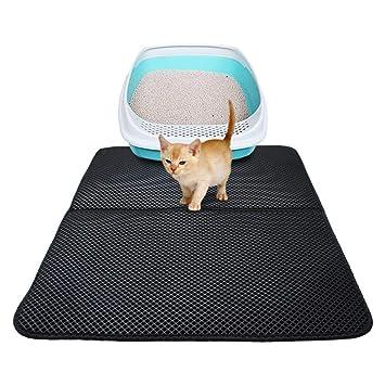 Alfombrilla de arena para gato, impermeable, no tóxica, doble capa, EVA para