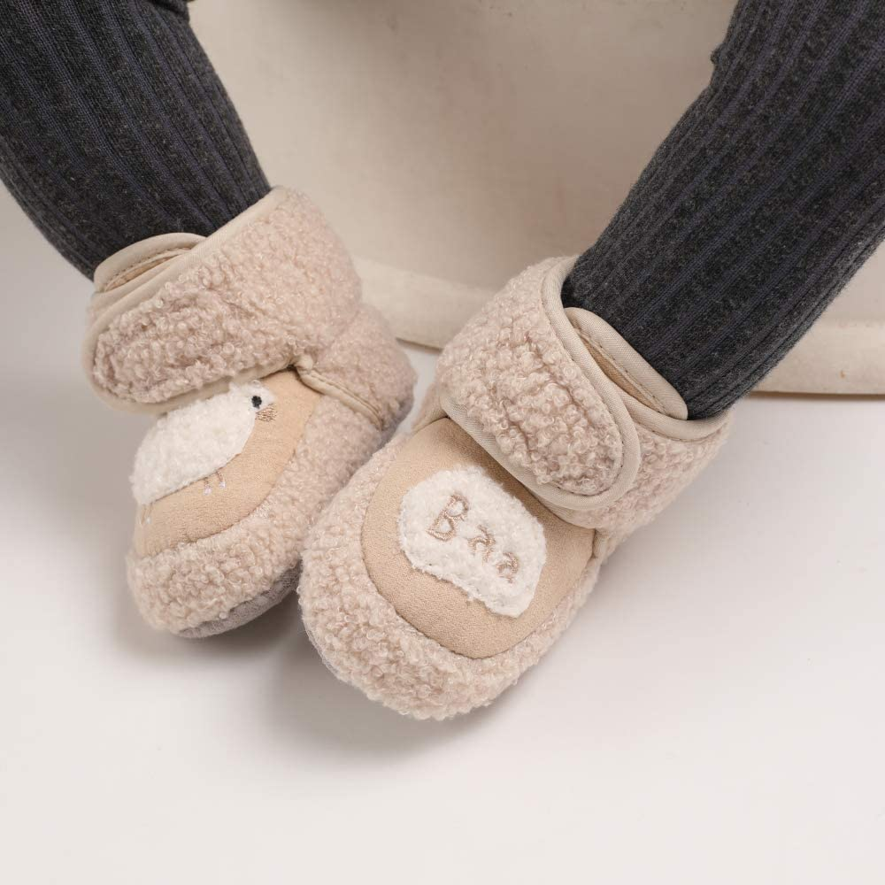 Baby Girls Boys Cute Sheep Booties Infant Soft Sole Crib Prewalker Warm Boots