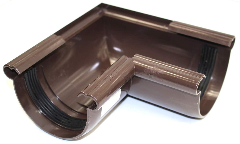 Funke Dachrinnen Innenecke Aussenecke 90/° braun halbrund 100