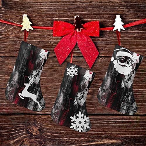 クリスマスの日の靴下 (ソックス3個)クリスマスデコレーションソックス 音楽ニックジョナスNick Jonas クリスマス、ハロウィン 家庭用、ショッピングモール用、お祝いの雰囲気を加える 人気を高める、販売、プロモーション、年次式