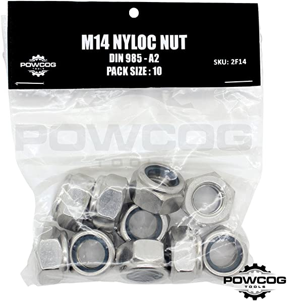 GRADE 8 M20 Nylon Insert Nuts .DIN 985 FREE Delivery Pack of 10. BZP
