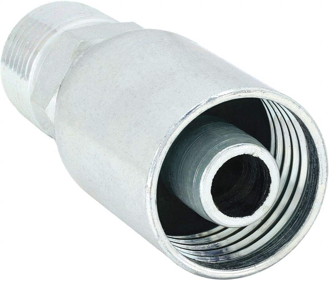 Eaton Weatherhead Hydraulic Hose Fitting PK10 Zinc Trivalent Chromate 06U-106-1 Each Crimpable