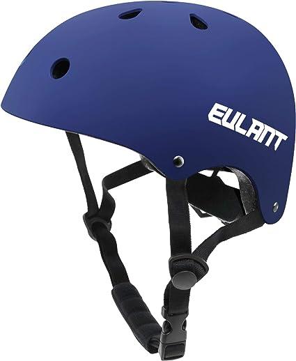 EULANT Casco Bici Niño, Casco Infantil para Monopatín Bicicleta Patinaje Scooter Esquiar, Tamaño de la Cabeza: 48-57cm, Azul: Amazon.es: Deportes y aire libre