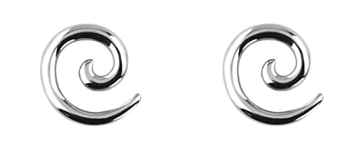 203954b09ac45 Forbidden Body Jewelry Pair of 0G-12G Surgical Steel Solid Spiral Taper  Earrings