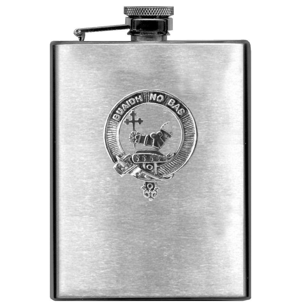 MacDougall Scottish Clan Stainless Steel 8oz Flask
