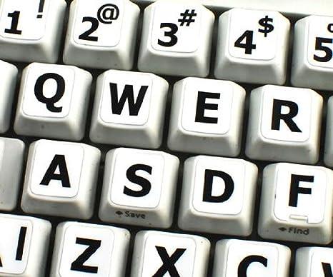 Inglés US Reino Unido Grandes letras (mayúsculas) pegatinas de teclado no transparentes de color
