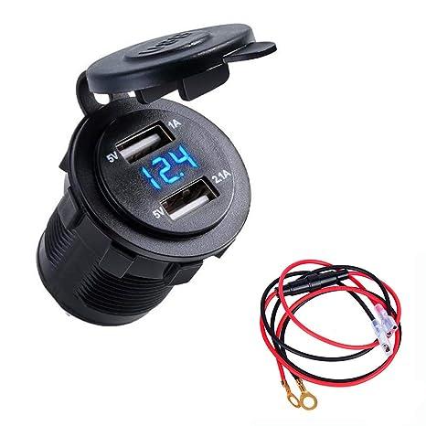 Amazon.com: Cargador USB para coche de Breadep, divisor de ...