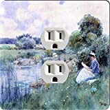 Rikki Knight 3034 Outlet Childe Hassam Art Woman Reading Design Outlet Plate